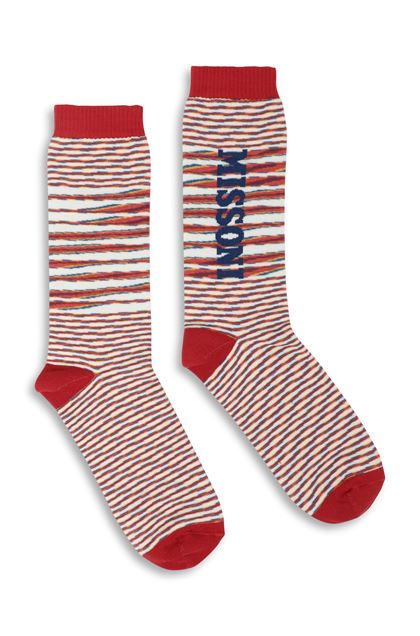 MISSONI Socks Red Man - Back