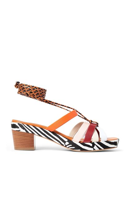 MISSONI Sandals Orange Woman - Back