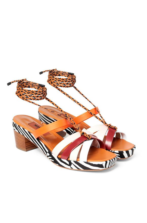 MISSONI Sandals Woman, Rear view