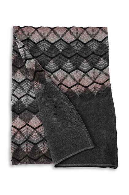 M MISSONI Scarf Dark grey Woman - Front