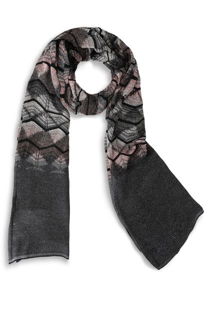 M MISSONI Scarf Dark grey Woman - Back