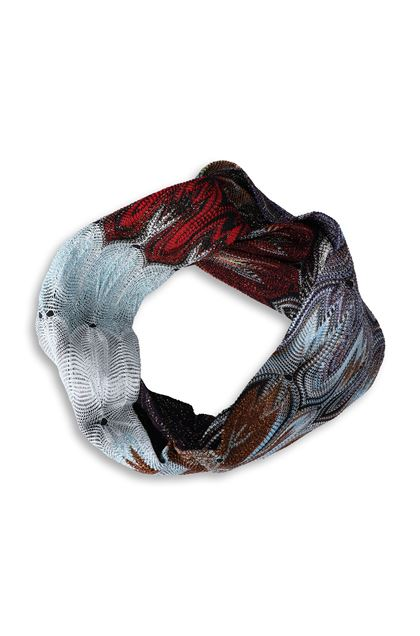 MISSONI Head band Azure Woman - Back