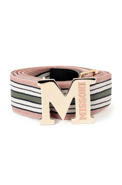 M MISSONI Belt Pastel pink Woman - Back