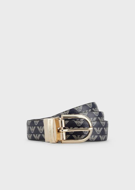 Reversible, all-over monogram belt