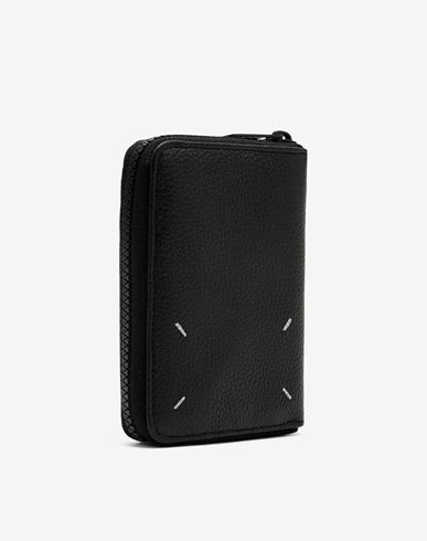 MAISON MARGIELA Wallets Man Zip-around grainy leather wallet r