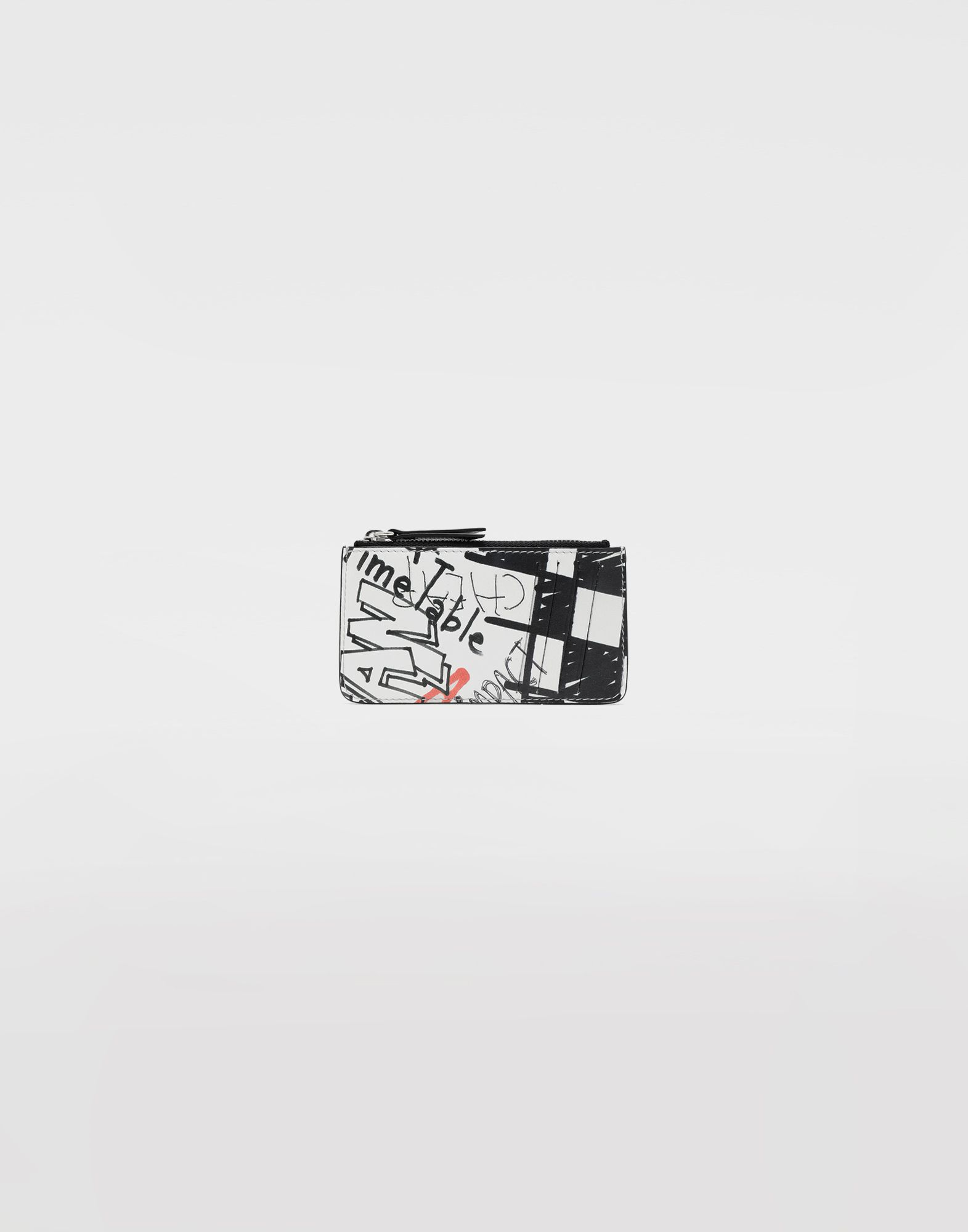 MAISON MARGIELA Graffiti zip wallet Key ring Woman f