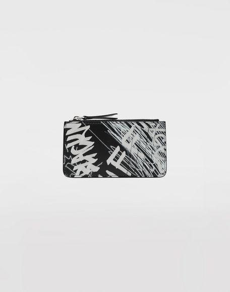 MAISON MARGIELA Graffiti zip wallet Key ring Woman f