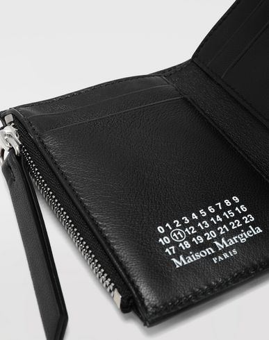 Small Leather Goods Graffiti envelope wallet Black