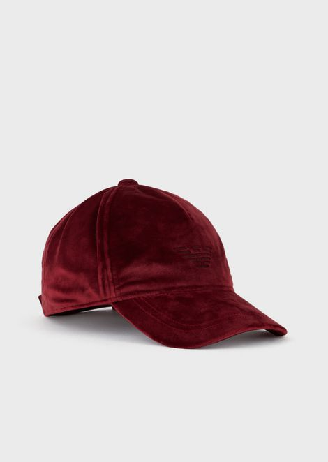 Cappello da baseball in velluto