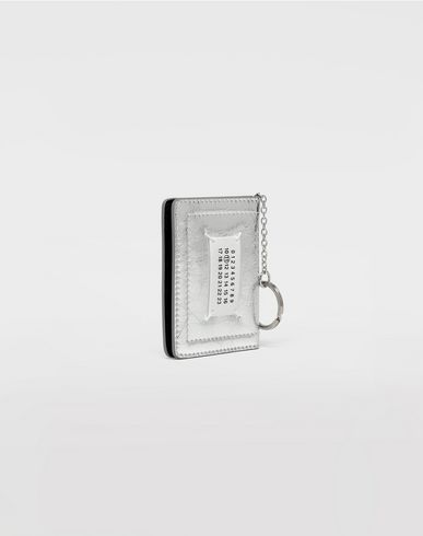 Small Leather Goods  Keyring metallic wallet Silver