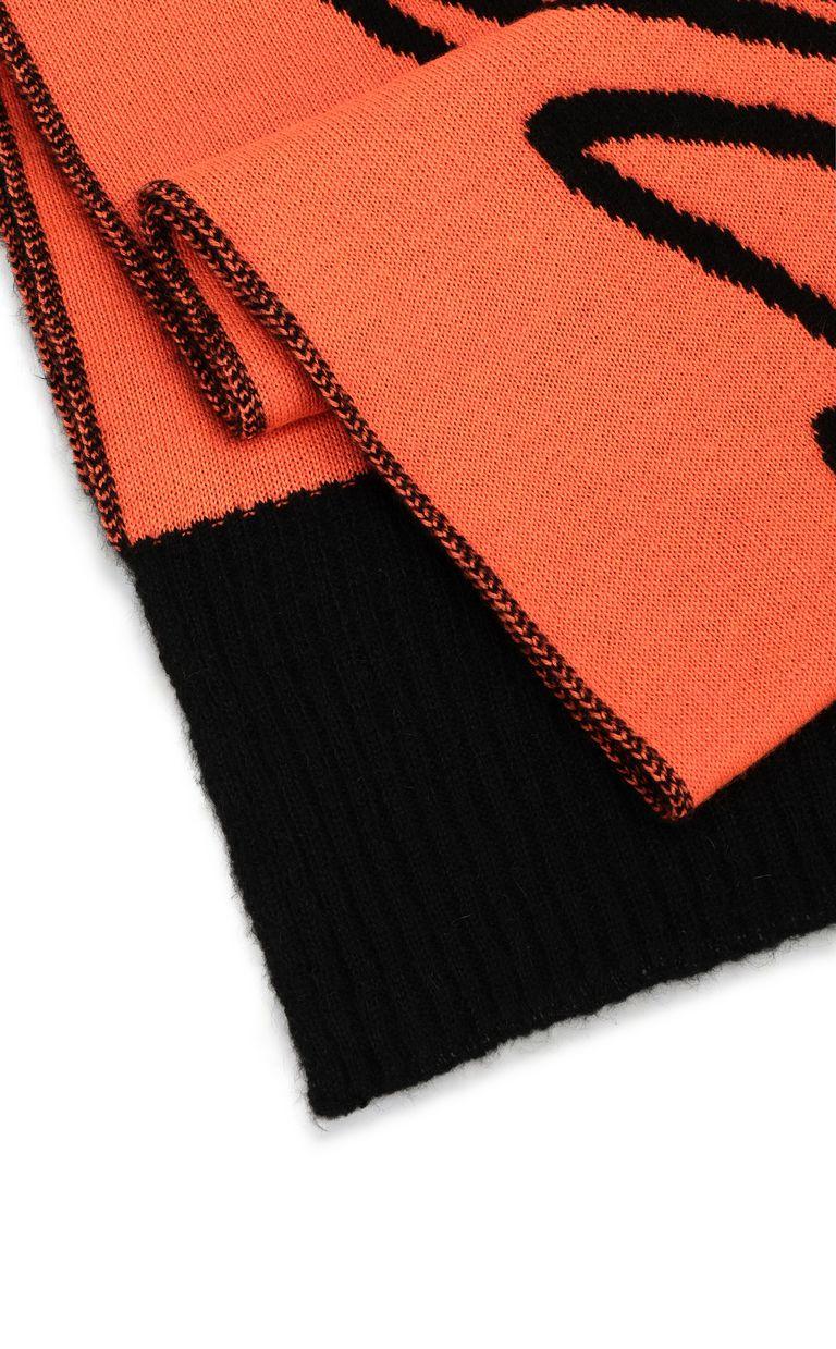 JUST CAVALLI Neon-orange scarf with logo Scarf Man d