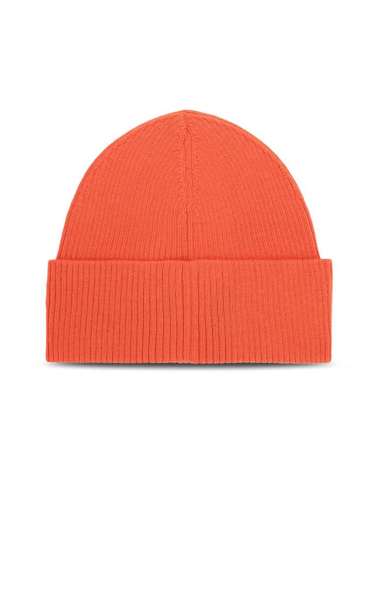 JUST CAVALLI Neon-orange beanie with logo Hat Man d