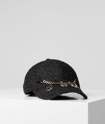 KARL LAGERFELD K/TREASURE TWEED CAP