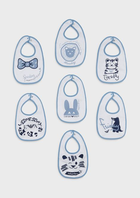Gift set of 7 bibs for the week
