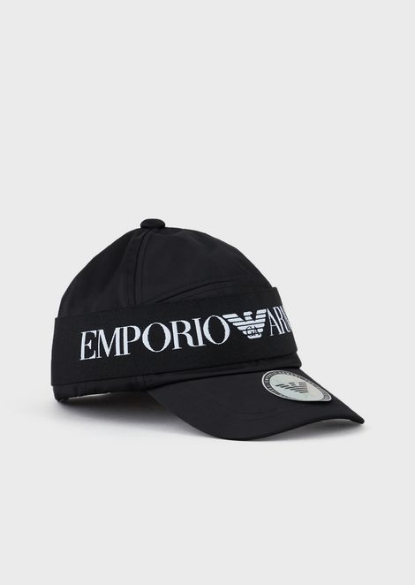 Baseball cap with logoed band
