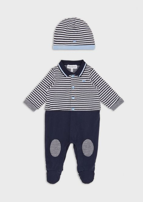Gift set with baby suit and beanie