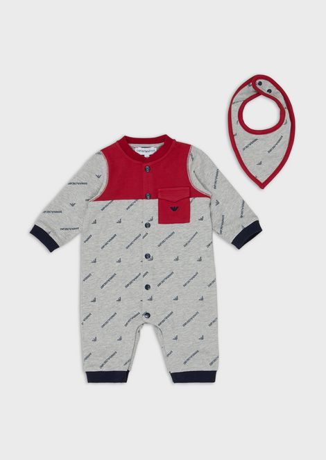Gift set with baby suit and bandana