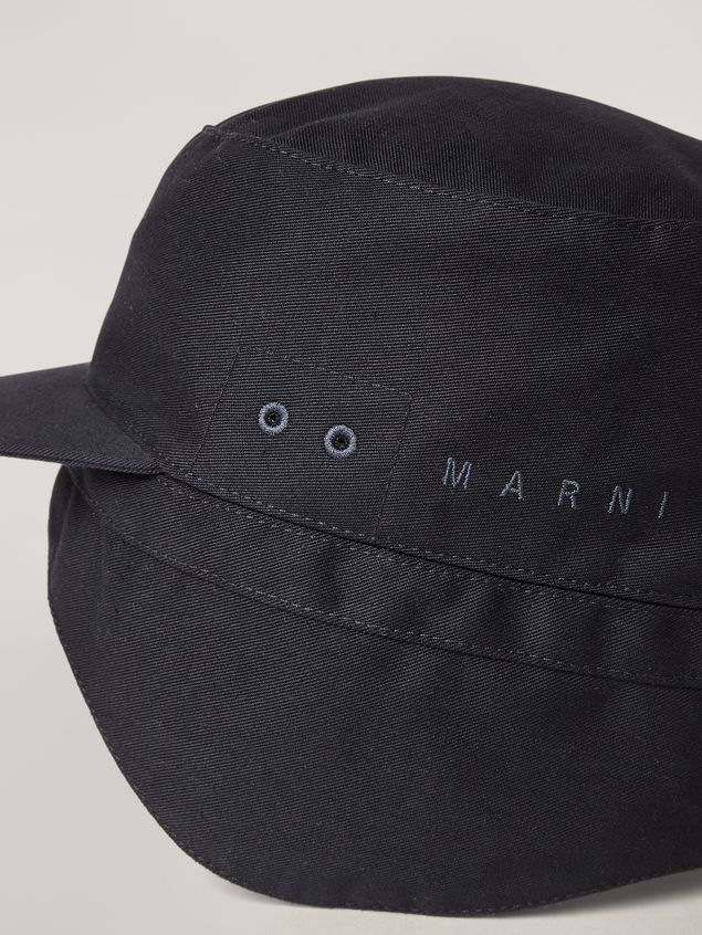 Marni Cap in workwear gabardine Man - 4