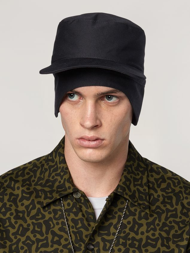 Marni Cap in workwear gabardine Man - 2