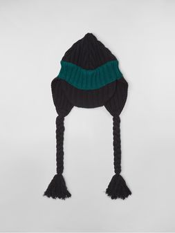 Marni WANDERING IN STRIPES alpaca and virgin wool cap Woman