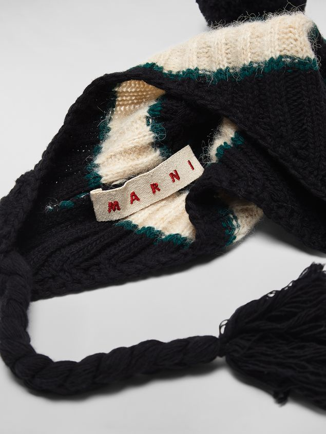 Marni WANDERING IN STRIPES alpaca and virgin wool hat with braids Woman - 4