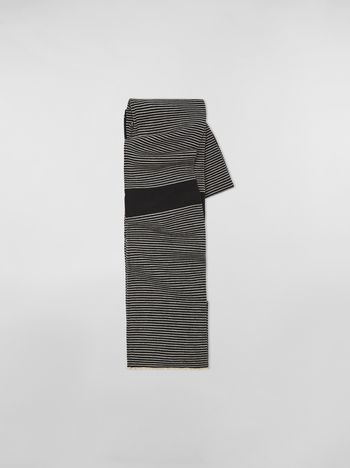 Marni WANDERING IN STRIPES thin-striped wool scarf Woman f