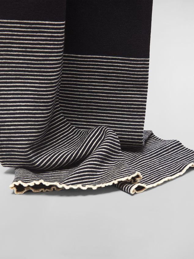Marni WANDERING IN STRIPES thin-striped wool scarf Woman - 4