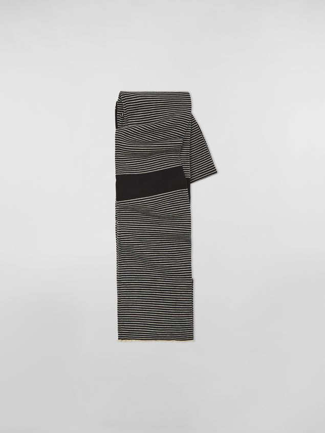 Marni WANDERING IN STRIPES thin-striped wool scarf Woman - 1