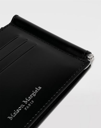Small Leather Goods Bi-fold calfskin wallet Black