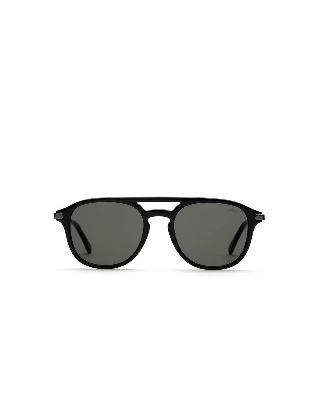 BRIONI Black Pantos Shape Sunglasses With Grey Lenses Sunglasses Man f
