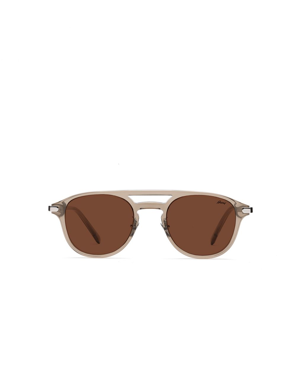 BRIONI Brown Pantos Shape Sunglasses With Brown Lenses Sunglasses Man f