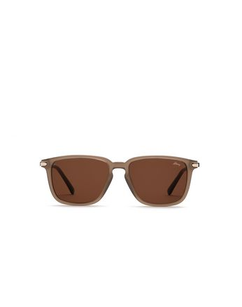 Brown Geometric Shape Sunglasses With Brown Lenses