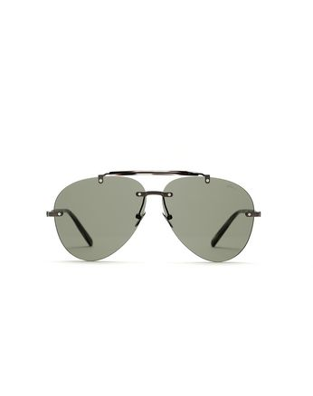 Green Pilot Sunglasses With Green Lenses