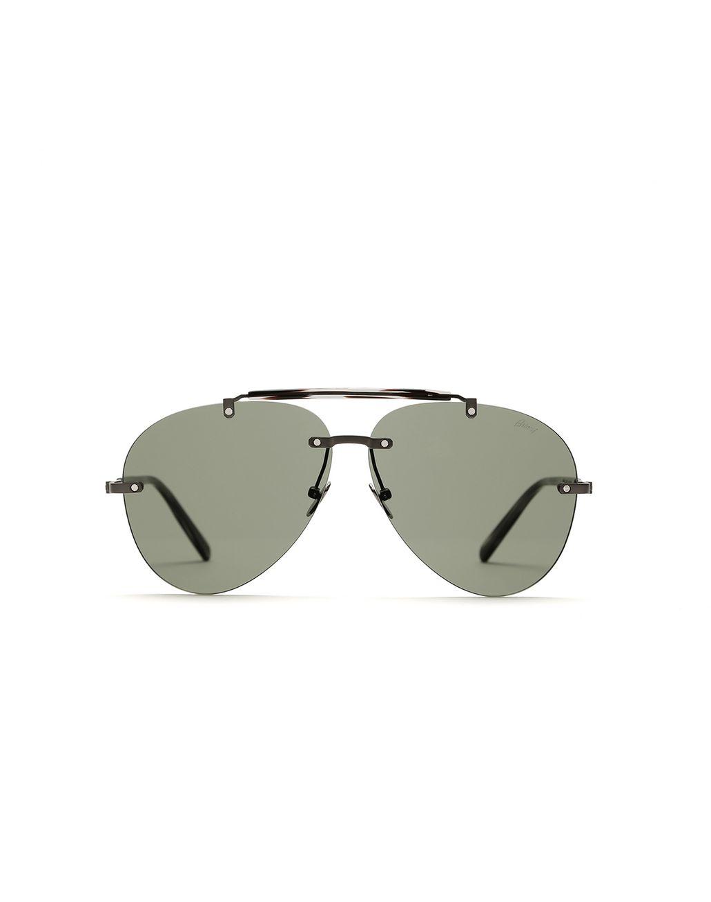 BRIONI Green Pilot Sunglasses With Green Lenses Sunglasses Man f