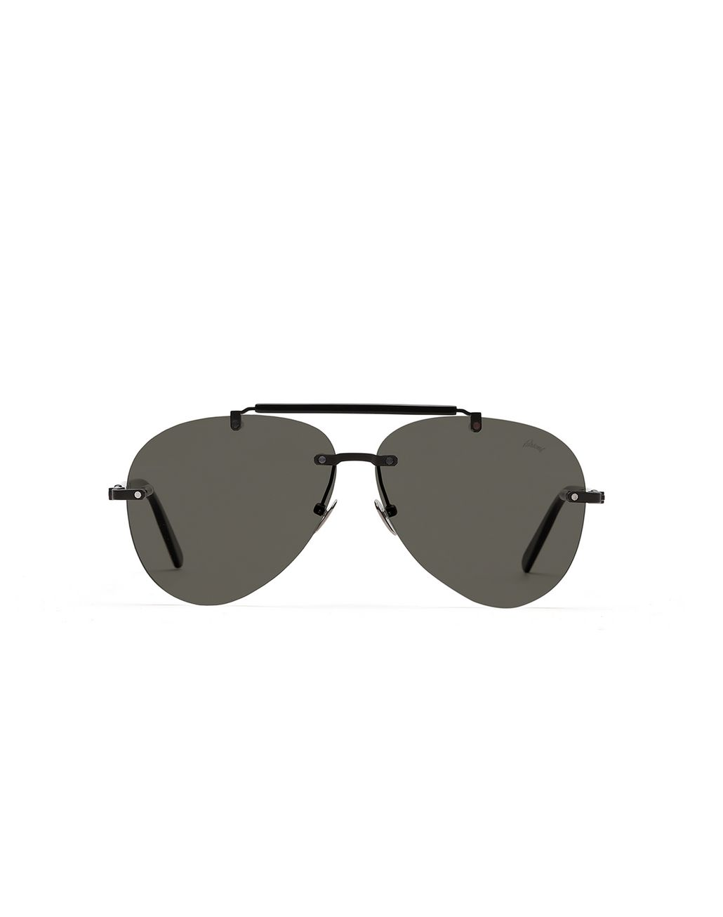 BRIONI Grey Pilot Sunglasses With Grey Lenses Sunglasses Man f