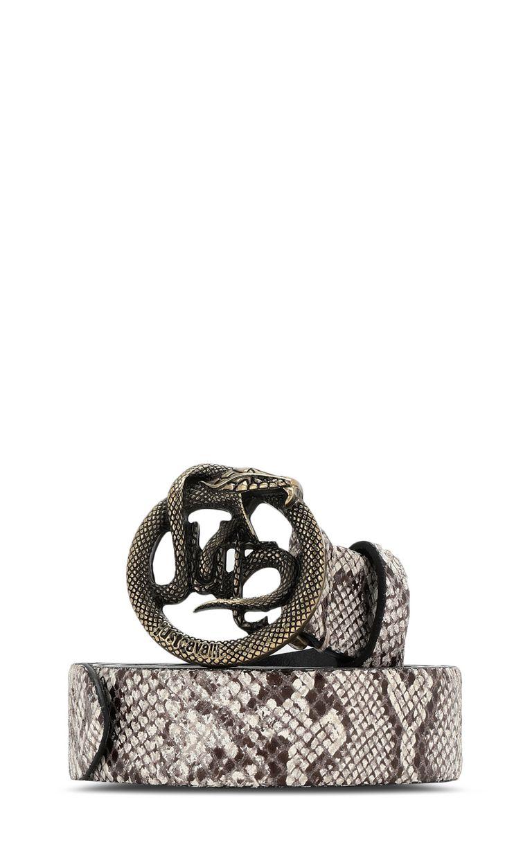 JUST CAVALLI Python-pattern belt Belt Man f