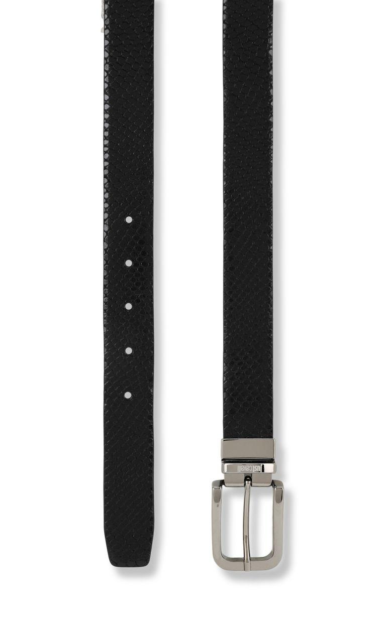 JUST CAVALLI Crocodile-skin-effect belt Belt Man d