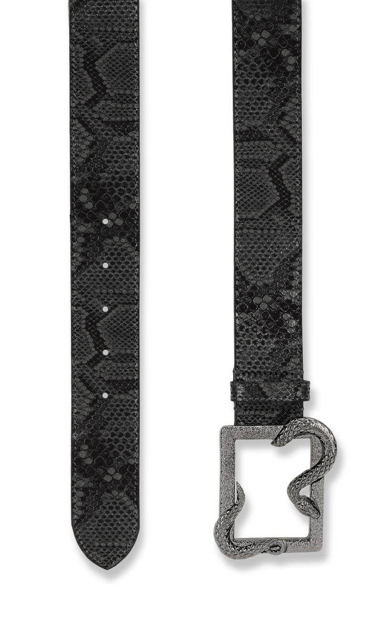 JUST CAVALLI Animal-pattern snake-buckle belt Belt Woman d