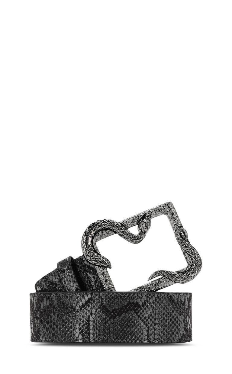 JUST CAVALLI Animal-pattern snake-buckle belt Belt Woman f