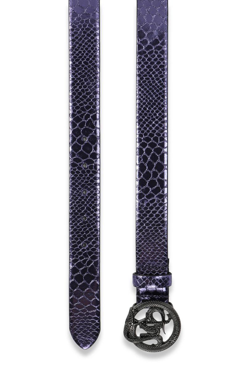 JUST CAVALLI Animal-print lamé belt Belt Woman d