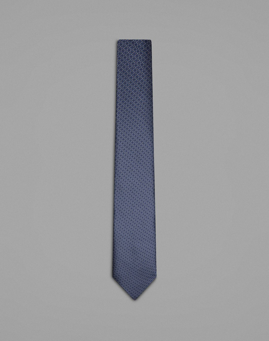 BRIONI Blue Micro Pattern Tie Tie Man f