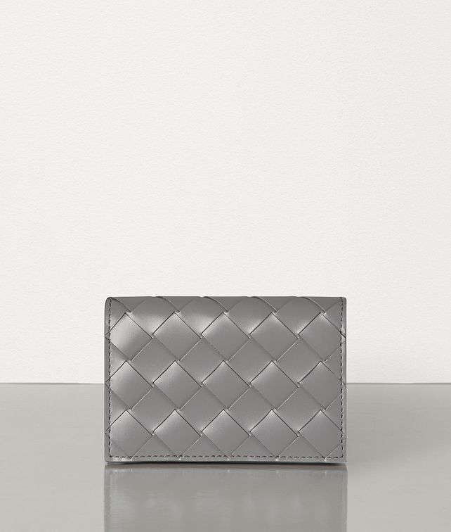 BOTTEGA VENETA CARD CASE IN INTRECCIATO SPAZZOLATO CALF Card Case E fp