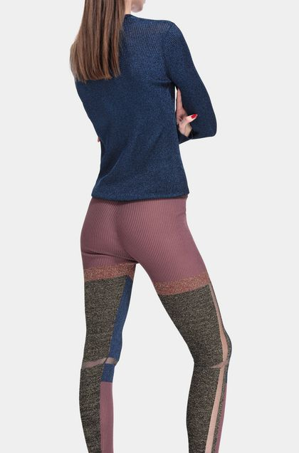 MISSONI Leggings Dark purple Woman - Front
