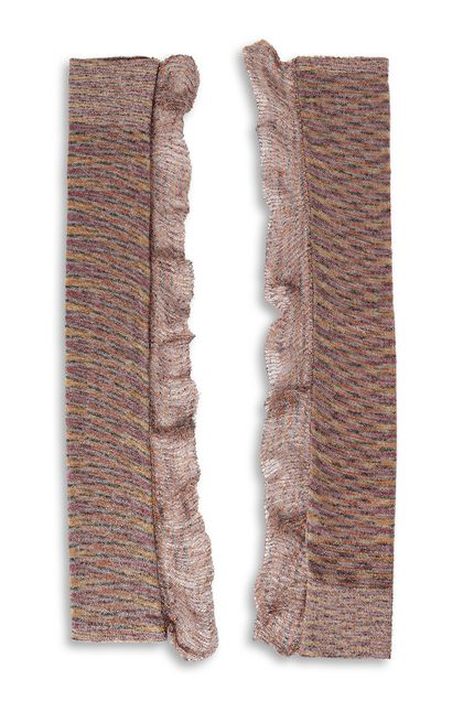 MISSONI Gloves Pastel pink Woman - Back