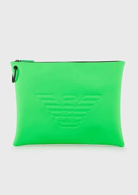 Large logoed pouch