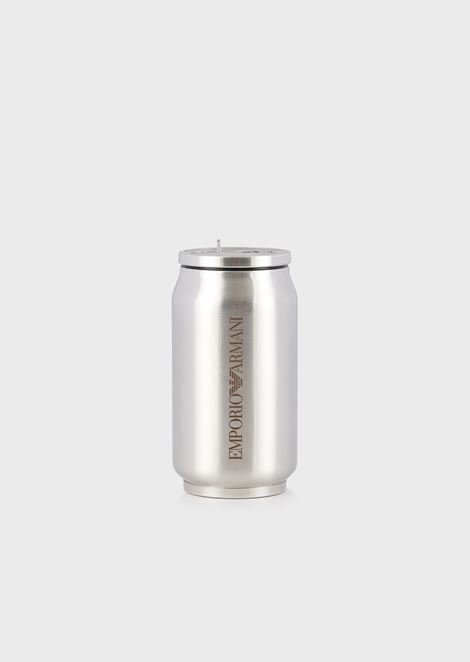 Can-shaped, stainless-steel water bottle