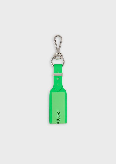 Logoed rubber keychain