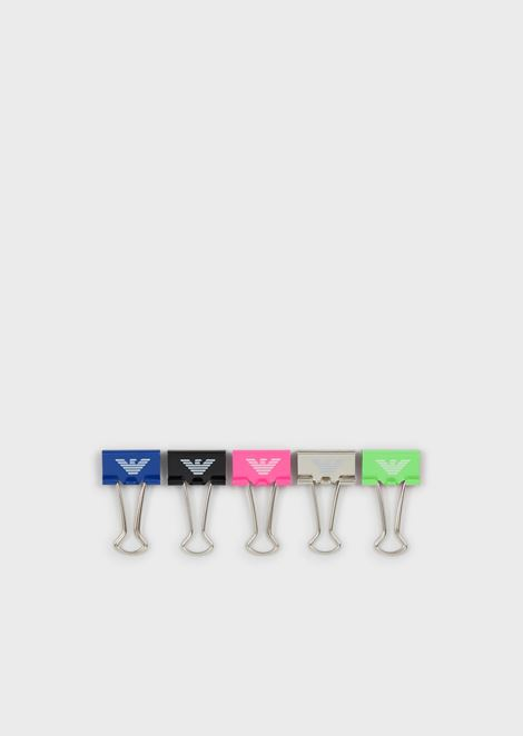 Pack of 5 logoed binder clips