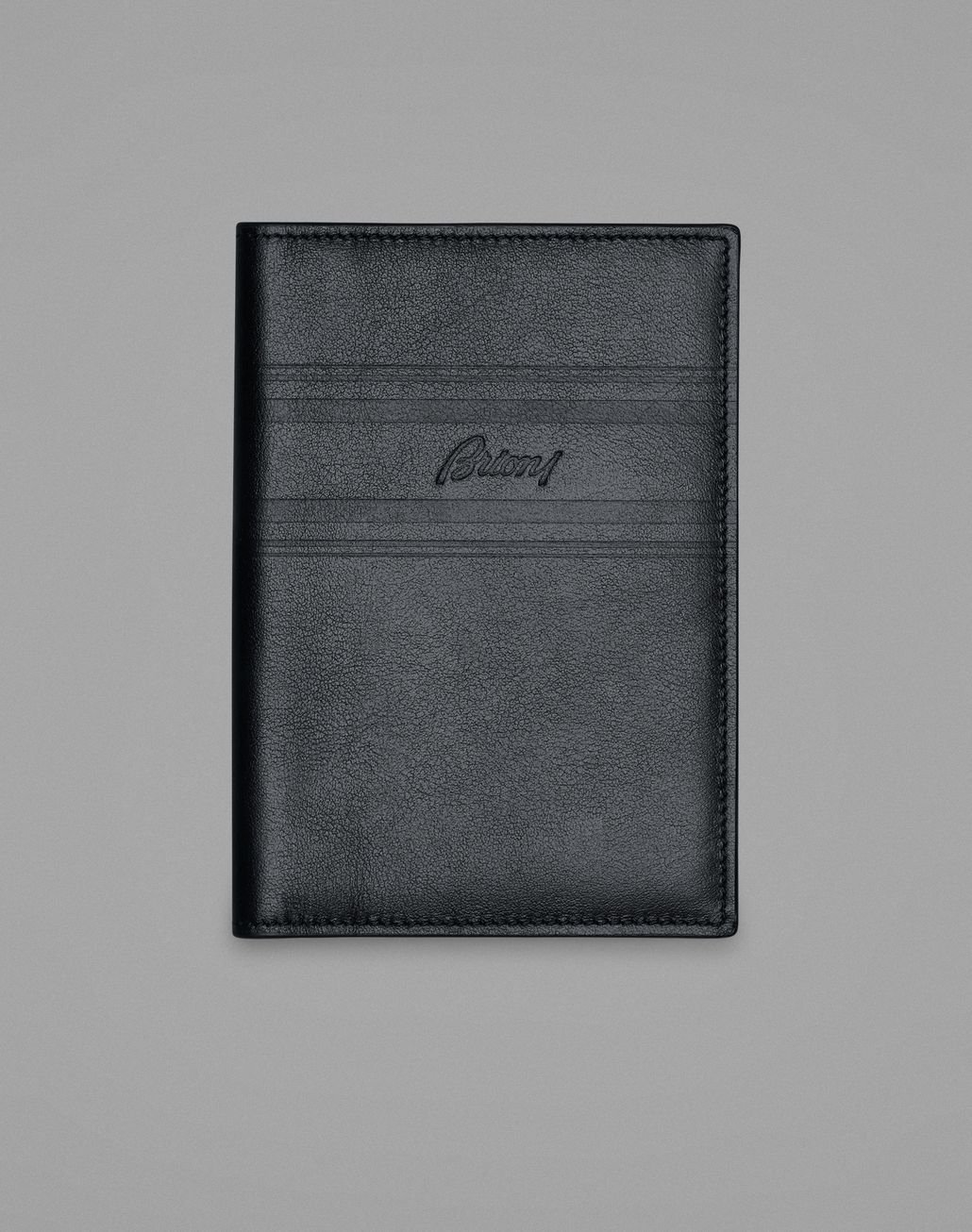 BRIONI Blue Passport Holder Leather Goods Man f