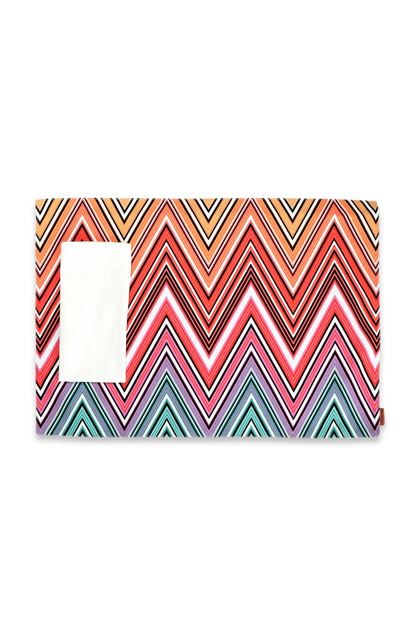 MISSONI HOME KEW OUTDOOR PLACE MAT Red E - Back